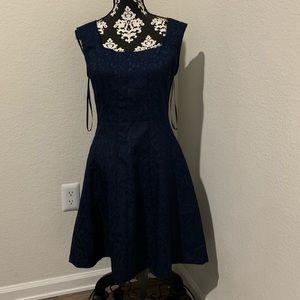 BCBG Paris blue floral dress